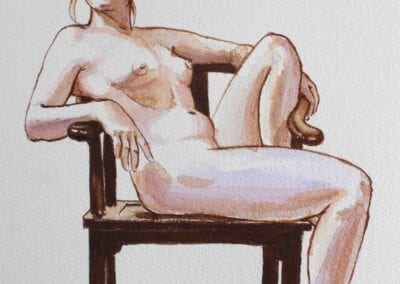 White Woman in a Chinese Chair